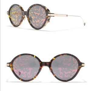 CHRISTIAN DIOR Round Umbrage Foliage Sunglasses